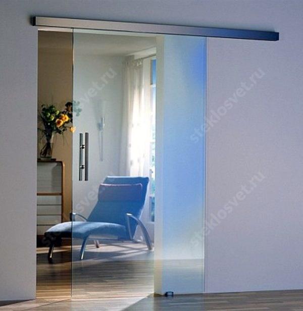 Раздвижной механизм для стеклянной двери