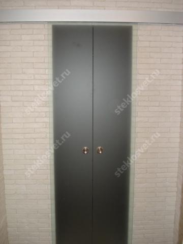 Стеклянная раздвижная дверь